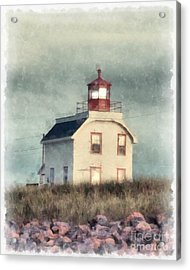 Lighthouse Watercolor Prince Edward Island Acrylic Print by Edward Fielding