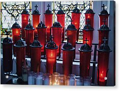 Lighting A Candle For You Acrylic Print