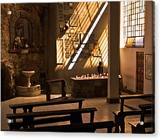 Acrylic Print featuring the photograph Lighting Candles by Ron Dubin