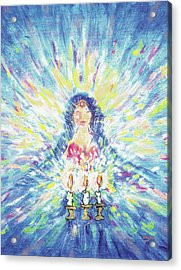 Lighting Shabbot Candles Acrylic Print