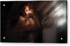 Acrylic Print featuring the photograph Lighting The Cigarette by Karen Musick