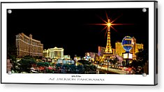 Lighting Up Vegas Poster Print Acrylic Print by Az Jackson