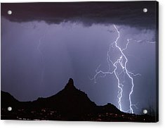 Lightnin At Pinnacle Peak Scottsdale Arizona Acrylic Print