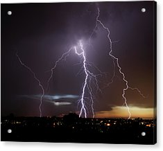 Lightning At Dusk Acrylic Print
