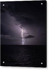 Lightning At Sea I Acrylic Print