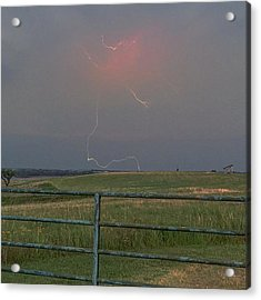 Lightning Bolt On A Scenic Route Acrylic Print