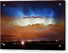 Lightning Cloud Burst Boulder County Colorado Im34 Acrylic Print by James BO  Insogna