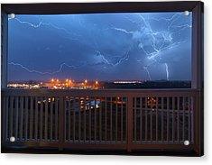 Lightning From The Balcony Acrylic Print