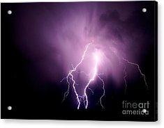Lightning In The Desert Acrylic Print