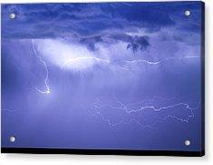 Lightning In The Rain Acrylic Print