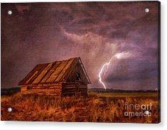 Lightning Landscape By Sarah Kirk Acrylic Print