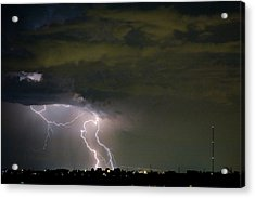 Lightning Man In The Clouds Acrylic Print by James BO  Insogna