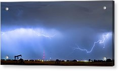 Acrylic Print featuring the photograph  Lightning Michelangelo Style Panorama by James BO Insogna