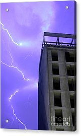 Lightning On Rivadavia 2 Acrylic Print
