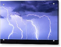 Lightning On The Plains Acrylic Print