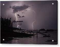 Lightning Over Boothbay Harbor Acrylic Print