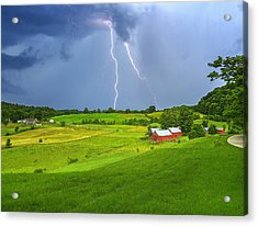 Lightning Storm Over Jenne Farm Acrylic Print