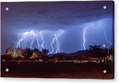 Lightning Over Laveen Acrylic Print by Kimo Fernandez