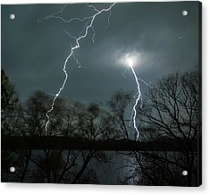 Lightning Over Little Sugarloaf Acrylic Print