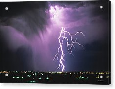 Lightning Storm Acrylic Print by Leland D Howard