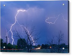 Lightning Storm On 17th Street Fine Art Print Acrylic Print by James BO  Insogna