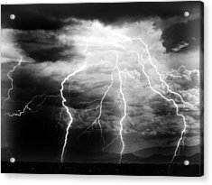 Acrylic Print featuring the photograph Lightning Storm Over The Plains by Joseph Frank Baraba
