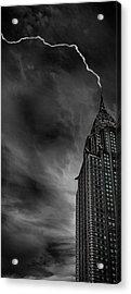 Lightning Strike Acrylic Print by Martin Newman
