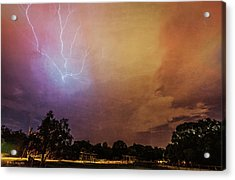 Lightning Strike Acrylic Print by Marvin Spates