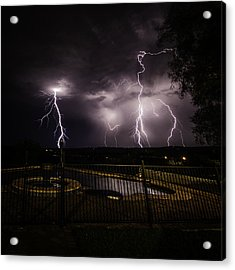 Acrylic Print featuring the photograph Lightning Strikes by Chris Cousins
