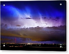 Lightning Thunder Head Cloud Burst Boulder County Colorado Im39 Acrylic Print by James BO  Insogna