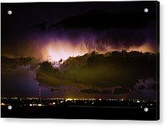 Lightning Thunderstorm Cloud Burst Acrylic Print by James BO  Insogna