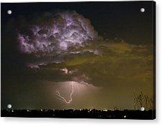 Lightning Thunderstorm With A Hook Acrylic Print