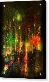 Lights In The City Acrylic Print by Emma Alvarez