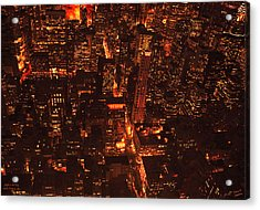 Lights In The City Look Pretty To Me Acrylic Print by Diane C Nicholson