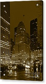 Lights Of 5th Ave. Acrylic Print