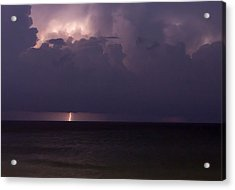 Acrylic Print featuring the photograph Lights Over The Ocean by Chris Babcock