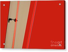 Lights On Red Acrylic Print
