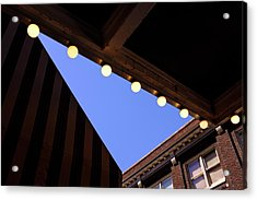 Lights Roofs And Triangles In Frederick Maryland Acrylic Print