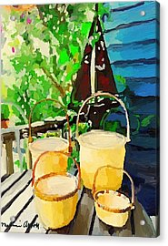 Lightship Baskets And An Old Sailboat Windvane Acrylic Print