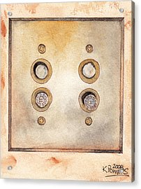 Lightswitch Acrylic Print by Ken Powers