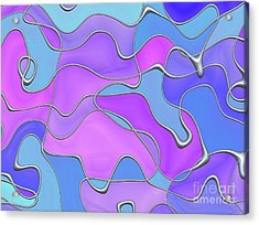 Acrylic Print featuring the digital art Lignes En Folie - 02a by Variance Collections