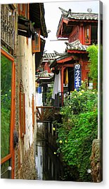 Lijiang Back Canal Acrylic Print