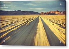 Like A Band Of Gypsies We Go Down The Desert Acrylic Print