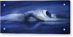 Acrylic Print featuring the painting Like A Dolphin by Jarmo Korhonen aka Jarko
