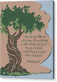 Like An Olive Tree Acrylic Print