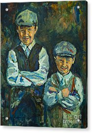 Acrylic Print featuring the painting Durham Boys by Angelique Bowman