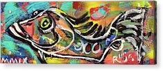 Lil Funky Folk Fish Number Eleven Acrylic Print by Robert Wolverton Jr