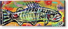 Lil' Funky Folk Fish Number Ten Acrylic Print
