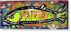 Lil Funky Folk Fish Number Twelve Acrylic Print by Robert Wolverton Jr