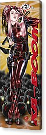 Lil Miss Deadpool Acrylic Print by Pete Tapang
